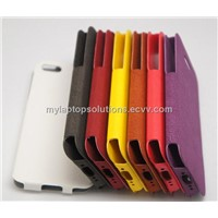No Deformation Flip PU Leather case for iPhone 5