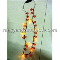 Pumpkin Flashing Necklace (WY-HFN01)