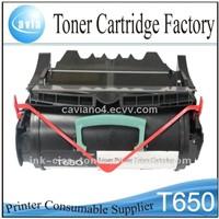 Toner laser cartridges T650 for Lexmark printers