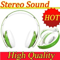 Wholesale folded studio colorful headphone 3.5mm wired headphones microphone adapter