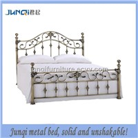 european style stainless steel metal/iron bed JQG-076