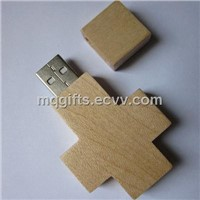 Laser Engraving Logo Wooden USB Stick 1gb to 16gb