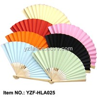 Wedding Favor Blank Paper Hand Fans/Bamboo Crafts/Arts