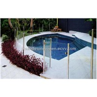white sandstone pool coping