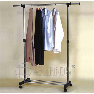Cheap Extendable Metal Clothes Hanging Store Rack Cj