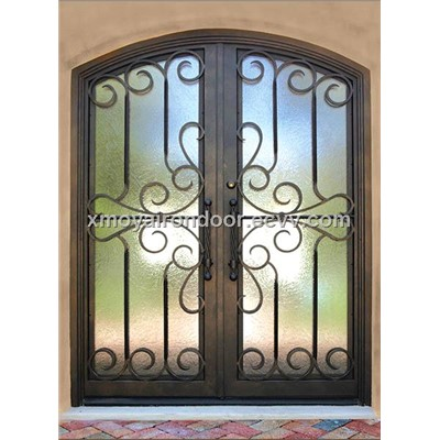 Decorative residential steel signle entry doors design for Residential steel entry doors