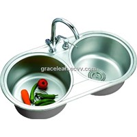 CUPC stainless steel sink washing basin LS8645A