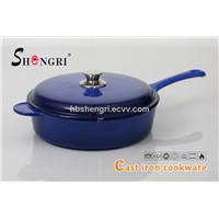 Cast iron enamel cookware stockpot