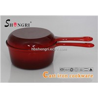 Cast iron enamel multifunction Pot / dual pan