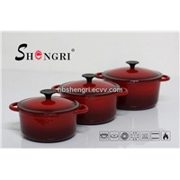 Cast iron two tone enamel cookware stewpot