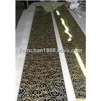 Decorative Series PVD Titanium Plated Etching Finish Stainless Steel Sheet