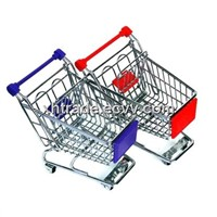 Mini Shopping Cart,Wire Gifts Shopping Trolley / Medium-Sized