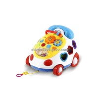 Educational toys musical phone car with blocks