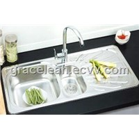 10049-3 stainless steel sinks double basin