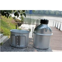 1L Army water bottles Aluminum canteen for Military 1L water kettle with lunch box