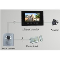 7inch Touch Screen Video Door Phone System Remotely Unlock Door