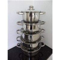 8pcs Stainless steel Casserole set