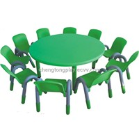 Children plastic table and chair