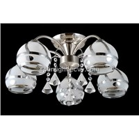 Crystal Blower Glass Iron Ceiling Chandelier