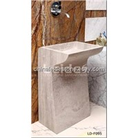 Marble free standing wash basin LD-F095