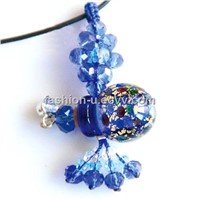 Murano Glass Essential Oil Perfume Bottle Pendant Necklace