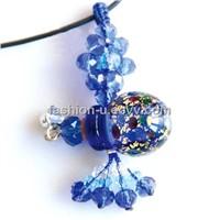 Murano Glass Essential Oil Perfume Bottle Pendant Necklace