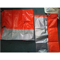 PE Awning Tarpaulin Orange Silver Color 120gram