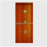 PVC interior doors with glass decorations