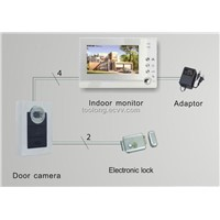 Recordable 7inch Screen Video Door Entry + Stainless Steel Lock