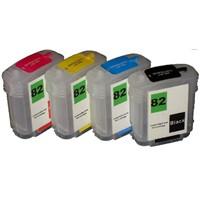 Refillable HP82 Ink Cartridge Inkjet Cartridge(CH565A/4911/4912/4913) for HP Designjet 510