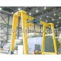Single girder gantry crane with hoist