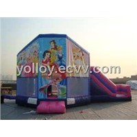 Disney Pink Princess Bouncy Castle with Slide