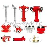 fire fighting hydrant, 3 ways fire hydrant, water fire hydrant, fire fighting water divider