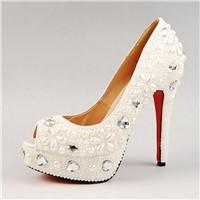 ladies high heel dress shoes with diamonds HCY02-937