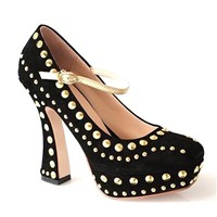 ladies high heel dress with studs HCY02-940