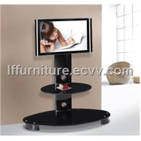 living room furniture adjustable glass led TV stands