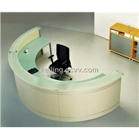 reception desk design front counter desk reception with galss top