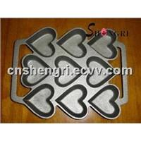 cast iron heart bakeware