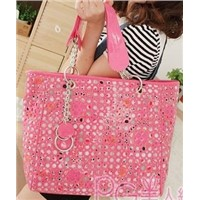 Factory Price Supply Taobao Hot Handbags Hole Chain Shoulder Handbag