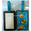 undersea world design rubber luggage tag