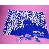 100 percent Cotton velour printed beach towel