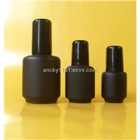 3-18ml glass  nail polish bottles with caps and brush