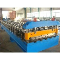 5.5kw Roof Sheet Roll Forming Machine with Touch Screen PLC Control System