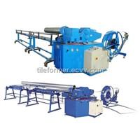 Automatic spiral flexible aluminum foil duct machine,aluminum foil flexible duct forming machine