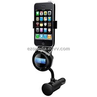 Car Charger for iPhone 4 + FM Transmitter