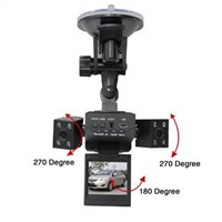 Car black box with dual cameras ,2.0 inch TFT screen, Video format,