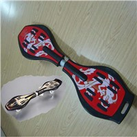 China hot ABS two wheels Wave board snake board land surfing