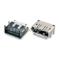 Display Port Connector with R/A Dip Type, Supports Deep Color 30/36-bit
