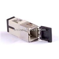 Fiber Optical adaptor adapter LC with shutter cover beige