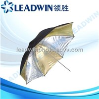 LW-RU02 LEADWIN 33'' 36'' 40'' 43'' black and gold silver studio umbrella